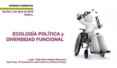 Cartel de la jornada Ecología Política y Diversidad Funcional