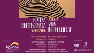 Cartel de la Jornada Vida Independiente en Vitoria-Gasteiz